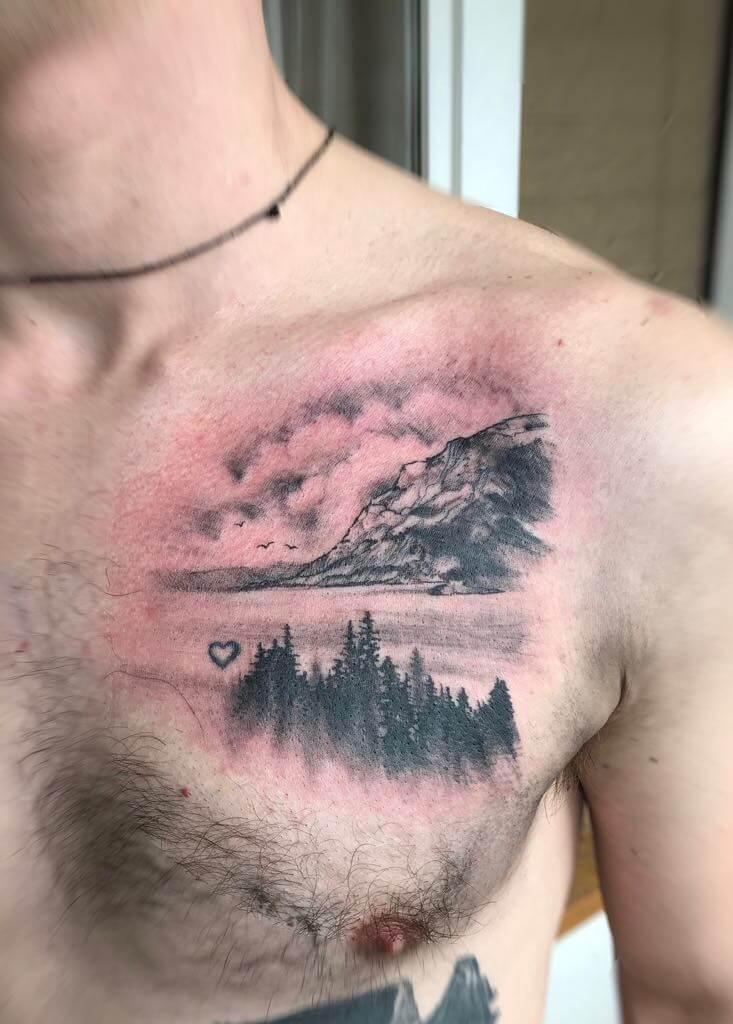 Ljubica Wild Spirit Hamen Landschafts tattoo