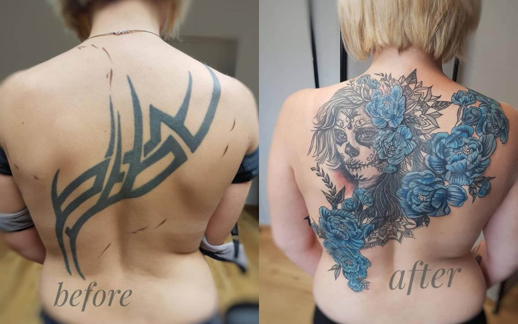 Cover up Tattoo von Wild Spirit Tattoo Hameln