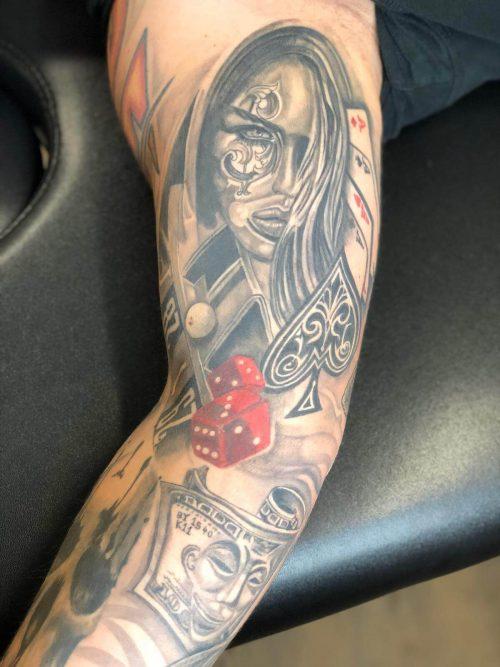 Spielerarm Tattoo von Wild Spirit Hameln